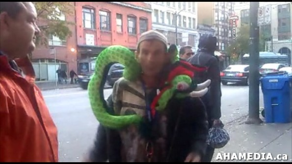 35 AHA MEDIA sees Roland Clarke with Pat and their encounter with Stuffed Green Snake in Vancouver DTE