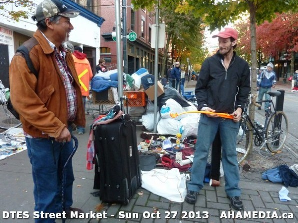 52 AHA MEDIA at  DTES Street Market on Sun Oct 27 2013