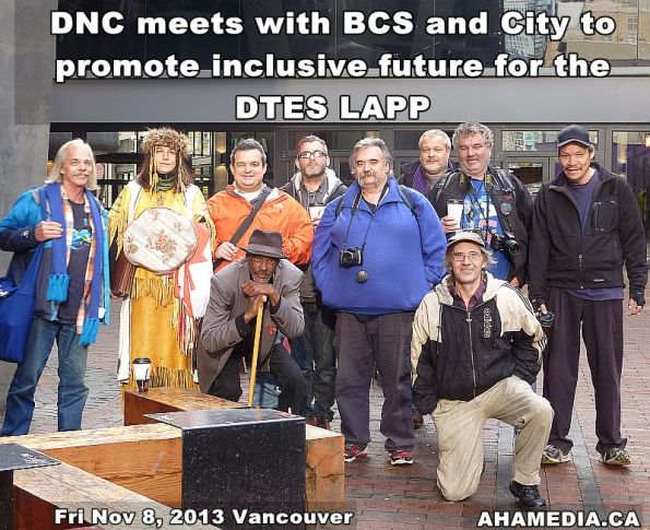 15 AHA MEDIA at DNC meeting with BCS for DTES LAPP in Vancouver