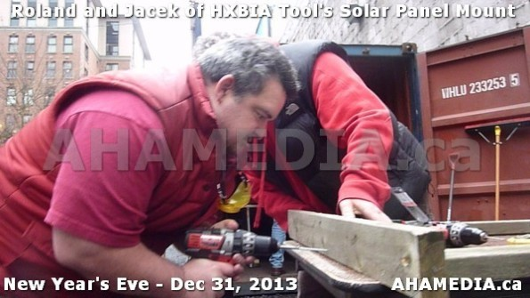 1 AHA MEDIA  sees HXBIA Tool build Solar Panel Mounting System on Tues Dec 31 2013 (106)