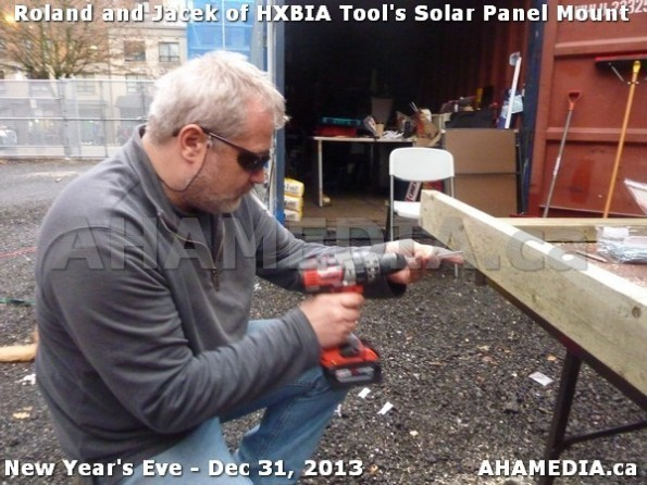 1 AHA MEDIA  sees HXBIA Tool build Solar Panel Mounting System on Tues Dec 31 2013 (117)