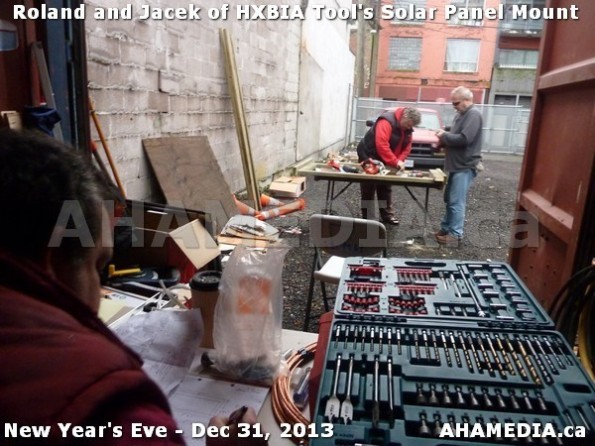 1 AHA MEDIA  sees HXBIA Tool build Solar Panel Mounting System on Tues Dec 31 2013 (127)