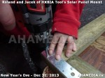 1 AHA MEDIA  sees HXBIA Tool build Solar Panel Mounting System on Tues Dec 31 2013 (13)