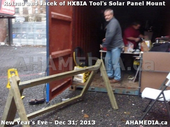 1 AHA MEDIA  sees HXBIA Tool build Solar Panel Mounting System on Tues Dec 31 2013 (150)