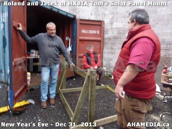 1 AHA MEDIA  sees HXBIA Tool build Solar Panel Mounting System on Tues Dec 31 2013 (188)