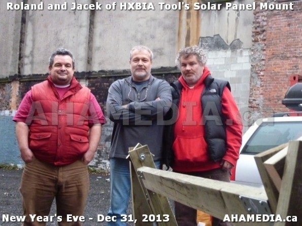 1 AHA MEDIA  sees HXBIA Tool build Solar Panel Mounting System on Tues Dec 31 2013 (207)