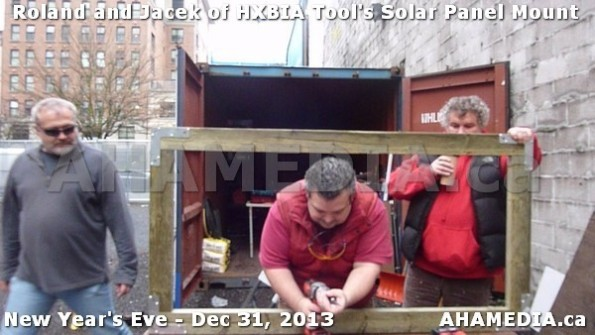 1 AHA MEDIA  sees HXBIA Tool build Solar Panel Mounting System on Tues Dec 31 2013 (23)