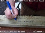 1 AHA MEDIA  sees HXBIA Tool build Solar Panel Mounting System on Tues Dec 31 2013 (46)