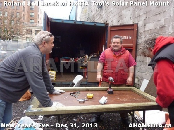 1 AHA MEDIA  sees HXBIA Tool build Solar Panel Mounting System on Tues Dec 31 2013 (9)