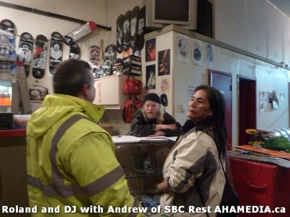 1 AHA MEDIA  sees Roland Clarke speak with Andrew of SBC Restaurant in Vancouver DTES