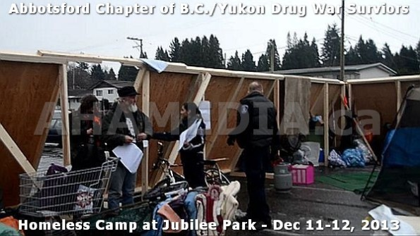 10  AHA MEDIA at BC Yukon Drug War Survivors Homeless Standoff in Jubilee Park, Abbotsford, B.C.