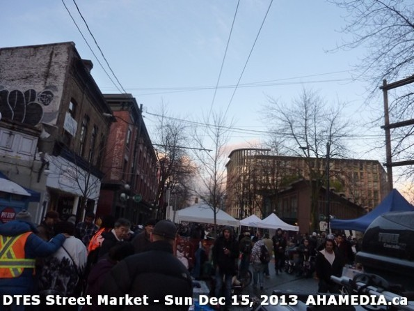 109 AHA MEDIA at DTES Street Market in Vancouver - Sun Dec 15, 2013