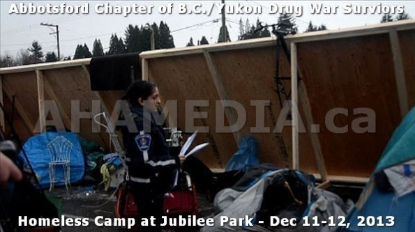 11  AHA MEDIA at BC Yukon Drug War Survivors Homeless Standoff in Jubilee Park, Abbotsford, B.C.