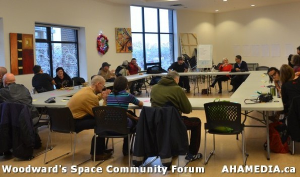 12 AHA MEDIA at Woodward's Space Community Forum in Vancouver DTES
