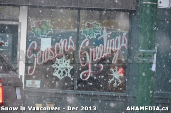 125 AHA MEDIA sees Snowfall in Vancouver Dec 2013