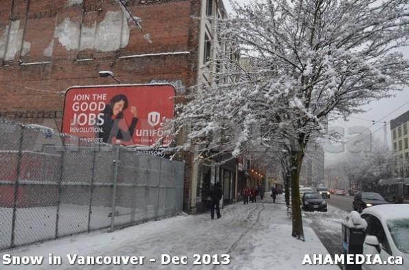 127 AHA MEDIA sees Snowfall in Vancouver Dec 2013