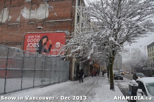 127 AHA MEDIA sees Snowfall in Vancouver Dec 2013