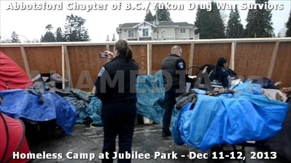 13  AHA MEDIA at BC Yukon Drug War Survivors Homeless Standoff in Jubilee Park, Abbotsford, B.C.