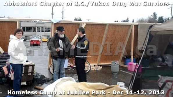 14  AHA MEDIA at BC Yukon Drug War Survivors Homeless Standoff in Jubilee Park, Abbotsford, B.C.