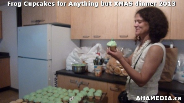 14 AHA MEDIA sees Frog Cupcakes made for Anything but XMAS dinner 2013 in Vancouver DTES