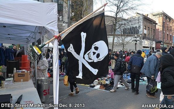 2 AHA MEDIA sees Pirate Flag at DTES Street Market in Vancouver 2