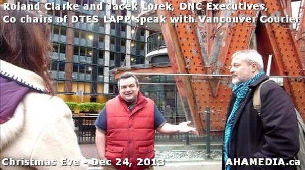 2 AHA MEDIA sees Roland Clarke + Jacek Lorek, DNC Executives, Co-chair DTES LAPP w Vancouver Courier