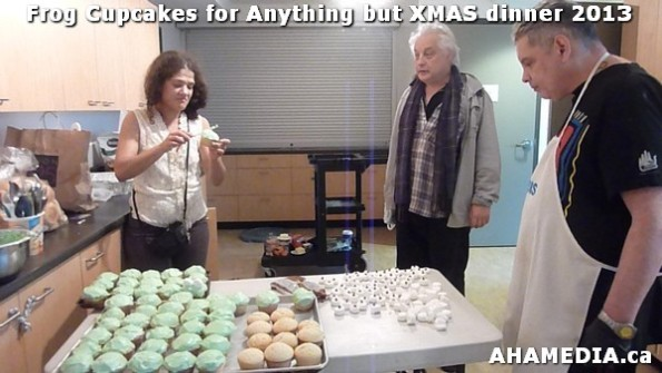 27 AHA MEDIA sees Frog Cupcakes made for Anything but XMAS dinner 2013 in Vancouver DTES