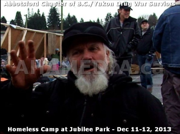 3  AHA MEDIA at BC Yukon Drug War Survivors Homeless Standoff in Jubilee Park, Abbotsford, B.C.