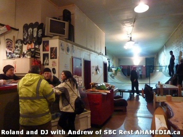 3 AHA MEDIA  sees Roland Clarke speak with Andrew of SBC Restaurant in Vancouver DTES