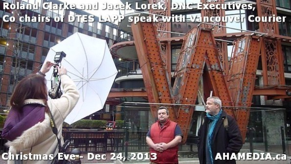 38 AHA MEDIA sees Roland Clarke + Jacek Lorek, DNC Executives, Co-chair DTES LAPP w Vancouver Courier