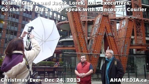 38 AHA MEDIA sees Roland Clarke + Jacek Lorek, DNC Executives, Co-chair DTES LAPP w Vancouver Courier