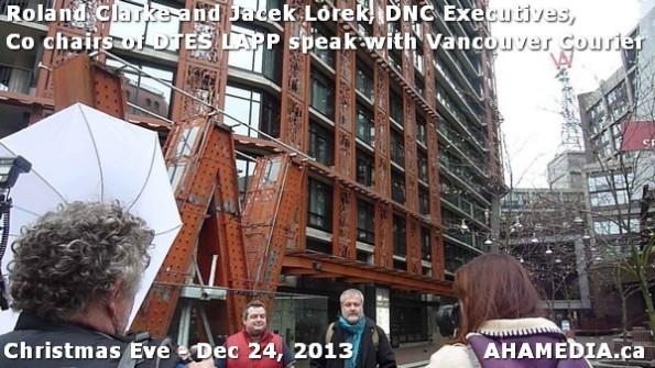 39 AHA MEDIA sees Roland Clarke + Jacek Lorek, DNC Executives, Co-chair DTES LAPP w Vancouver Courier