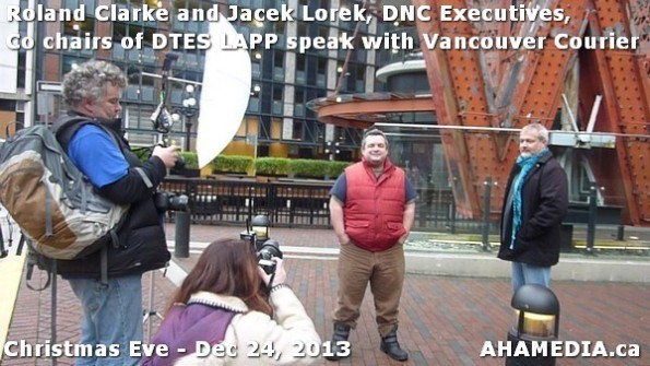 40 AHA MEDIA sees Roland Clarke + Jacek Lorek, DNC Executives, Co-chair DTES LAPP w Vancouver Courier