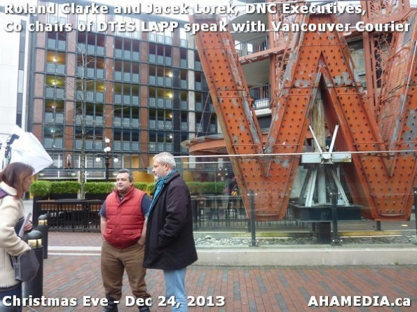 43 AHA MEDIA sees Roland Clarke + Jacek Lorek, DNC Executives, Co-chair DTES LAPP w Vancouver Courier