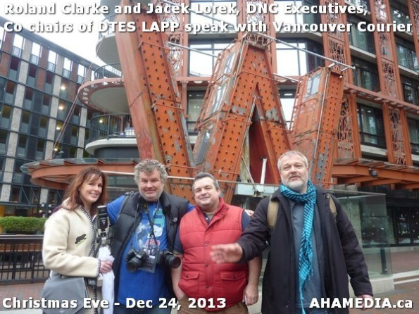 47 AHA MEDIA sees Roland Clarke + Jacek Lorek, DNC Executives, Co-chair DTES LAPP w Vancouver Courier