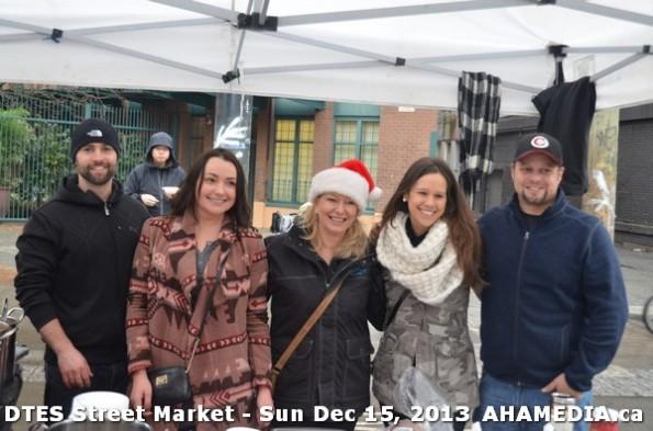 62 AHA MEDIA at DTES Street Market in Vancouver - Sun Dec 15, 2013