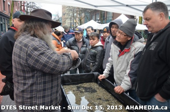 78 AHA MEDIA at DTES Street Market in Vancouver - Sun Dec 15, 2013