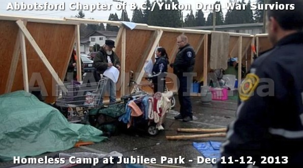 9  AHA MEDIA at BC Yukon Drug War Survivors Homeless Standoff in Jubilee Park, Abbotsford, B.C.