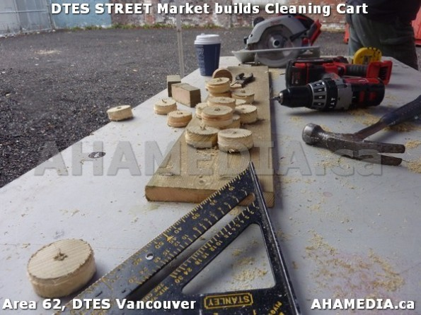 1 AHA MEDIA sees Jacek Lorek build a cleaning cart for DTES Street Market in Vancouver