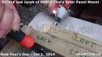 101 AHA MEDIA sees HXBIA Tool test fit solar panel mount on New Year Day Jan 1, 2014
