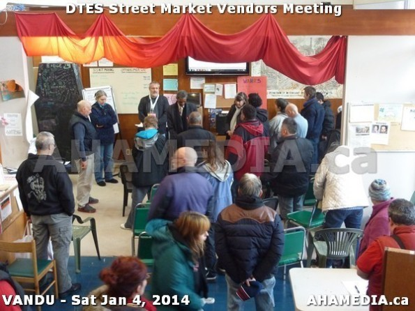 107 AHA MEDIA sees DTES Street Market Vendor Meeting on Sat Jan 4, 2014 in Vancouver