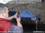 11 AHA MEDIA sees DTES Street Market place Sponsorship by Central City Foundation on Tents