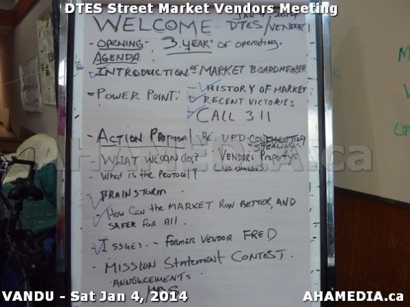 115 AHA MEDIA sees DTES Street Market Vendor Meeting on Sat Jan 4, 2014 in Vancouver