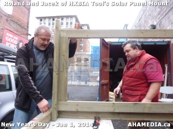 115 AHA MEDIA sees HXBIA Tool test fit solar panel mount on New Year Day Jan 1, 2014