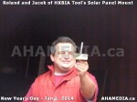131 AHA MEDIA sees HXBIA Tool test fit solar panel mount on New Year Day Jan 1, 2014