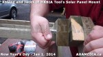 139 AHA MEDIA sees HXBIA Tool test fit solar panel mount on New Year Day Jan 1, 2014
