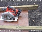 15 AHA MEDIA sees HXBIA Tool test fit solar panel mount on New Year Day Jan 1, 2014