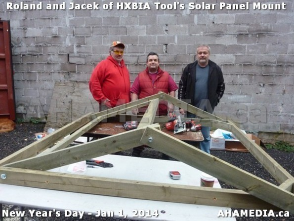 150 AHA MEDIA sees HXBIA Tool test fit solar panel mount on New Year Day Jan 1, 2014
