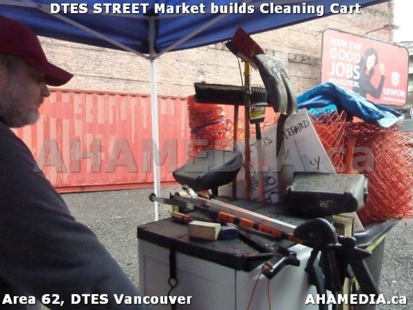 16 AHA MEDIA sees Jacek Lorek build a cleaning cart for DTES Street Market in Vancouver