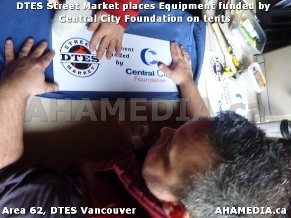 2 AHA MEDIA sees DTES Street Market place Sponsorship by Central City Foundation on Tents